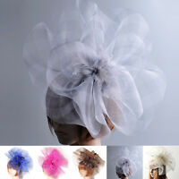 women large wedding party gift mesh fascinator hat hair clip accessory handmade
