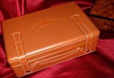 "FRANCK MULLER GENEVE Casablanca WATCH BOX Tan Leather 9.5"" x 6"" x 3"" US SELLER"