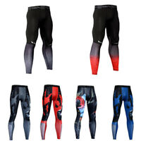 Men's Compression Leggings Workout Fitness Gym Skin Base Layer Dri-fit Pants
