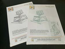 World War 2 Radar Tower Array x2 Terrain 28mm Mdf Wood (Unassembled/Unpainted)