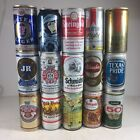 Vintage Beer Can Lot Of 15 (Top Opened) Iron Texas Foster Lager Schmidt Old 50