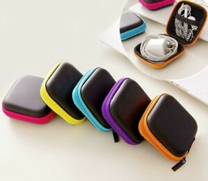 Storage Bag Carrying Hard Hold Case For Earphone Headphone Earbuds SD Card UK
