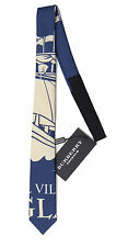 Authentic BURBERRY PRORSUM mens cotton/silk TIE Coastal Villages of England