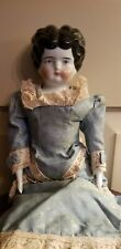 """Antique German China Head Doll Approx. 19"""" gorgeous dress"""