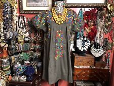 Beautiful Sister Mary W Gorgeous Hand Embroidery Oaxacan Mexican Style Dress S/M