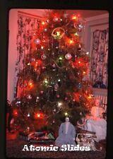 1966  kodachrome Photo slide Christmas Tree  dolls   telephone