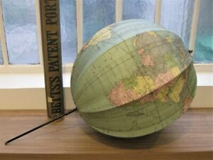 A Good Bett's Portable Folding Terrestrial Globe In Its Original Case circa 1925