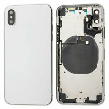 OEM Back Glass Housing Battery Cover Frame Assembly + Small Parts For iPhone X