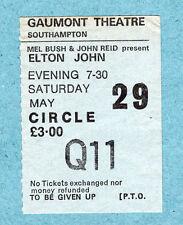 1976 Elton John concert ticket stub Southampton Rock Of The Westies Island Girl