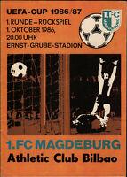 UEFA Cup - EC III 86/87 1. FC Magdeburg - Athletic Club Bilbao, 01.10.1986
