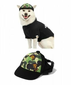 Dog Cap A BATHING APE A ABC MILO Motif Green Fast Shipping From Japan