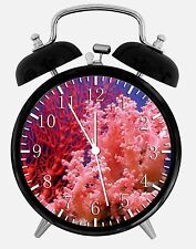 "Under Ocean Coral Alarm Desk Clock 3.75"" Home or Office Decor E381 Nice For Gift"