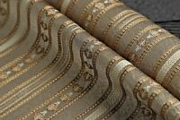 upholstery fabric gray color stripe satin jacquard elegant look high quality tr