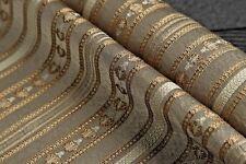 upholstery fabric stripe satin jacquard 200 cm x 138 cm gray color elegant look