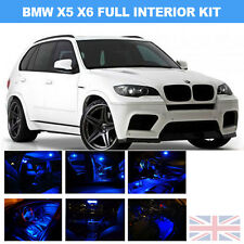 BMW X5 E70 X6 E71 Premium LED INTERIOR KIT 19 pcs SMD Blue Senza Errori Canbus