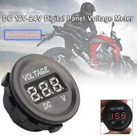 Car Motorcycle 12-24V Digital Cigarette Lighter Socket Voltmeter Voltage Meter