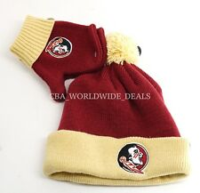 NEW '47 NCAA Florida State Seminole Toddler Bam Bam Knit Beanie/Gloves Set