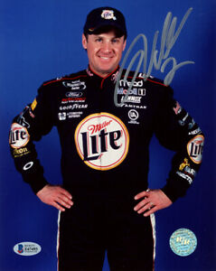 RUSTY WALLACE SIGNED AUTOGRAPHED 8x10 PHOTO LEGENDARY NASCAR DRIVER BECKETT BAS