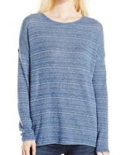 NWT WOMENS VOLCOM LIVED IN GO BLUE DRIFT PULLOVER CREW SWEATER TOP L LARGE NEW