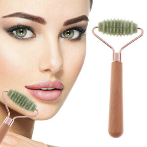 Facial Massage Roller Double Heads Jade Stone Face Body Skin RelaxationB.fr