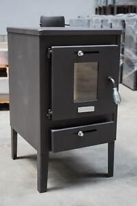 Wood Burning Stove Solid Fuel Fireplace Log Burner KUPRO Hera Steel Lid and Flap