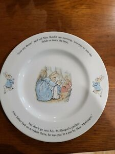"""WEDGWOOD BEATRIX POTTER """"PETER RABBIT"""" PLATE Made in England"""
