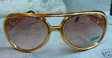 Elvis Style Gold Sunglasses King of Rock n Roll Very Good Quality Metal Arms