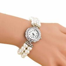 Elegant Czech Glass Pearl 2 Strand Beaded Wrist Watch