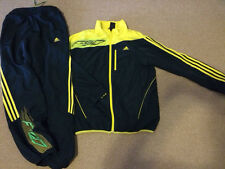 Adidas F 50 Boys Track Suit Large L 13-14 y Made in Vietnam Yellow/Blue 2 pc