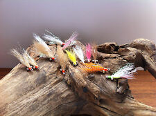 BONEFISH FLY 13 FLIES size #6 Gotcha,Crazy Charlie,Chili Pepper,Yucatan Special