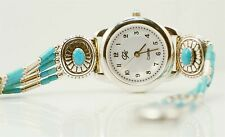 Carolyn Pollack Turquoise Liquid Silver Sterling Watch Wrist Sterling Relios Mom