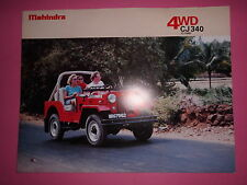 Original Prospekt Sale Brochure Mahindra 4WD CJ340 CJ 500 Technische Daten Jeep