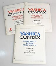 YASHICA CONTAX PRICE LIST, DEALER INFORMATION, 1983 TO 1985
