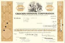 Crocker National Bank > California stock certificate