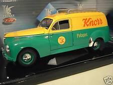 PEUGEOT 203 BREAK tolé Potage KNORR jaune/vert 1/18 SOLIDO 8426 voiture miniatur