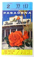 1964 ROSE BOWL Washington Huskies vs Illinois football ticket DICK BUTKUS