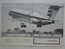 9/1963 PUB ROLLS-ROYCE SPEY ENGINE HAWKER TRIDENT AIRLINER BEA AIRLINE AD