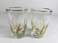 VTG Juice Glasses Harvest Set of 2 Swanky Swig Drinking Cups Mid Century Modern