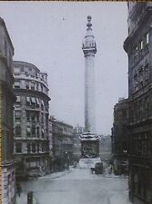 Monument to the Great Fire of London, England, Magic Lantern Glass Photo Slide