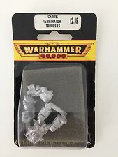 WARHAMMER 40,000 CHAOS SPACE MARINE TRAITOR TERMINATOR TROOPER 2ND EDITION METAL