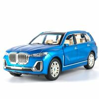 1:24 Diecasts BMW X7 Alloy Car Toy Vehicles Simulation Light Sound Pull Back UK