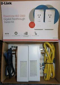 D-Link Powerline AV2 2000 Gigabit Passthrough Starter Kit - WORKING!