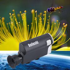 Pocket Microscope 200-240X Lighted Portable Magnifier LED UV Light Handheld LE