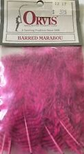 ORVIS BARRED MARABOU PINK FLY TYING MATERIALS