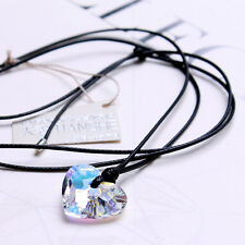 Genuine Austrian Crystal Sweet Heart Necklace Super Sparkling TI00061