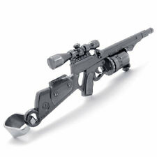 NEW Stainless Steel Snapper Assault Rifle Toy Gun Replica Model Pendant Necklace