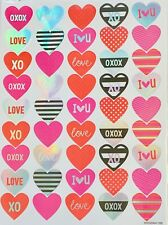 Foil Love Hearts Valentine's Day Stickers Planner Papercraft DIY Cards Seals