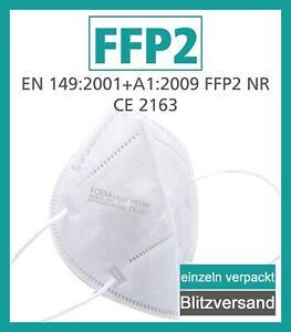 FFP2 Masken CE Zertifiziert -hygienisch einzeln verpackt- Mundschutz Maske FFP 2