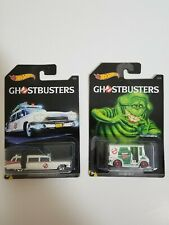 Hot Wheels Ghostbusters Set of 2 Cars Ecto-1 Bread Box New