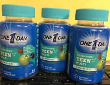 3 ONE A DAY FOR HIM VITACRAVES TEEN MULTI GUMMIES 60ct EA